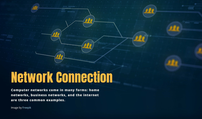 Network connection Web Page Design