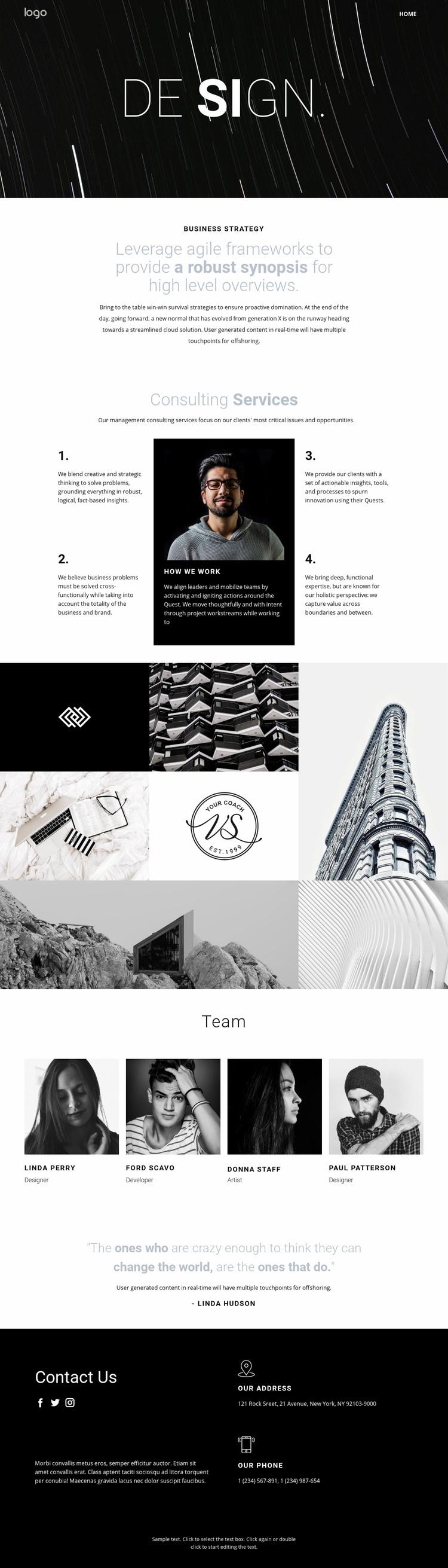 Design and creative art  Web Page Designer