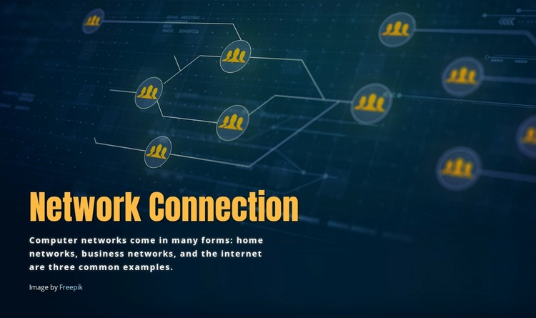 Network connection WordPress Template