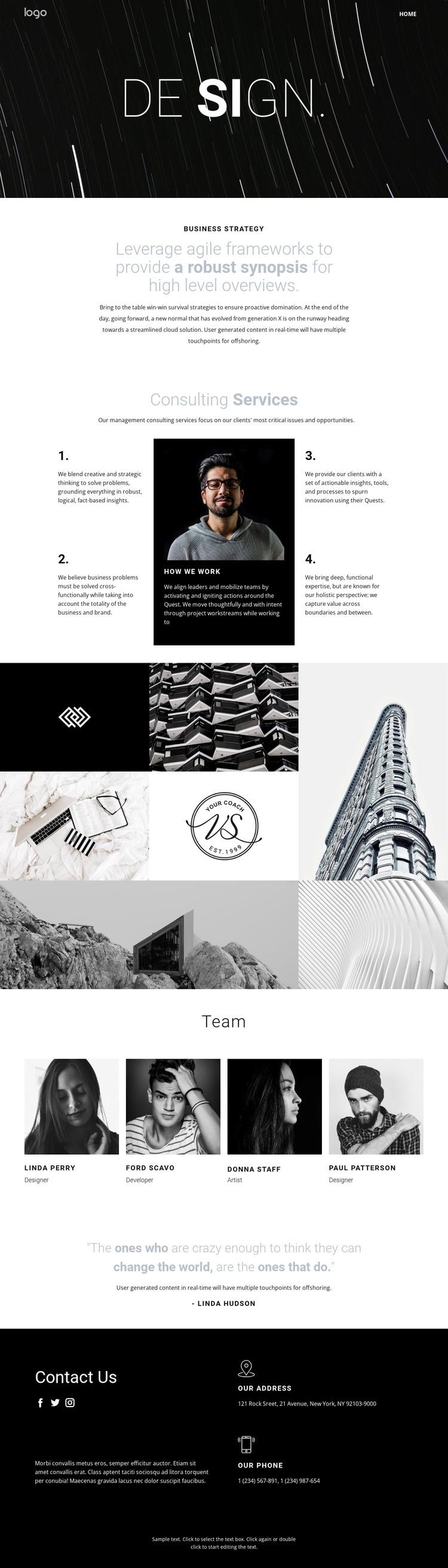 Design and creative art  Woocommerce Theme