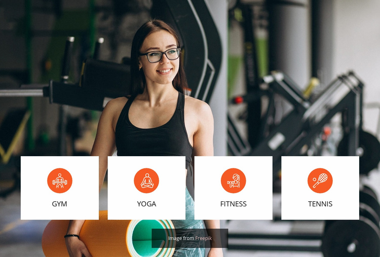 Ladies only gym Website Template