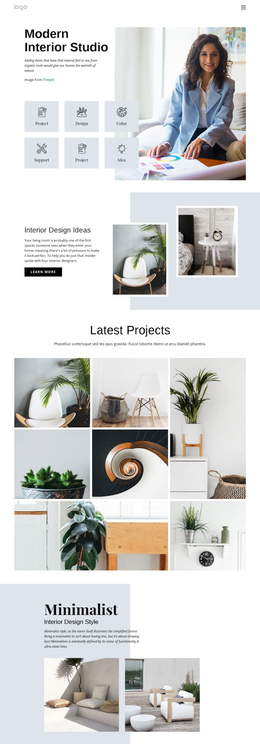 Interior Design One Page Template