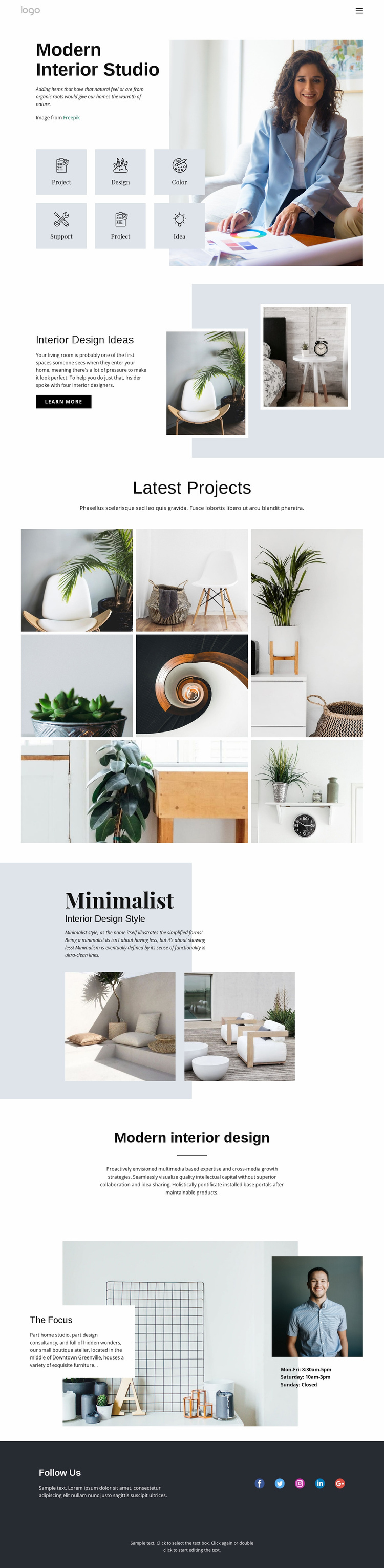 Kitchens, baths and closets Website Template