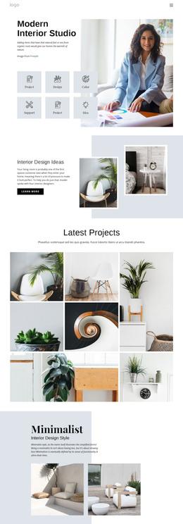 Custom Modern Interior WordPress Theme