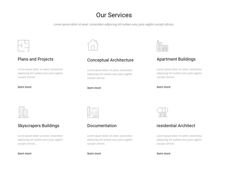 Building Engineering & Construction Services Web Page Design