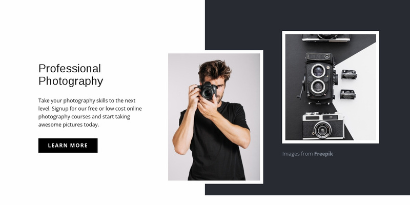 Modern professional photography Web Page Designer