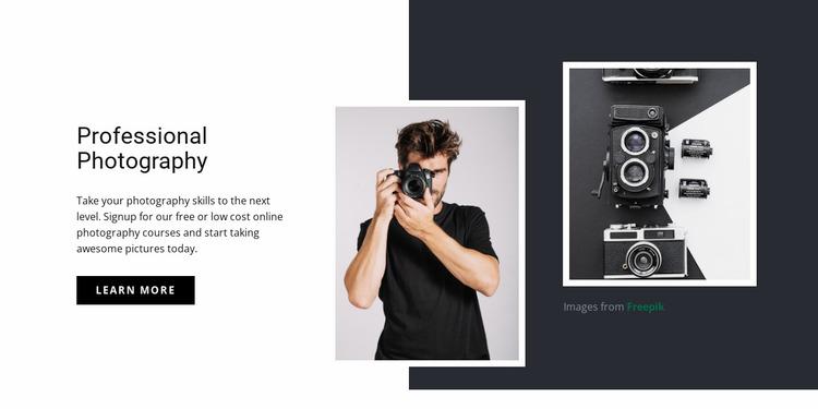 Modern professional photography Website Mockup