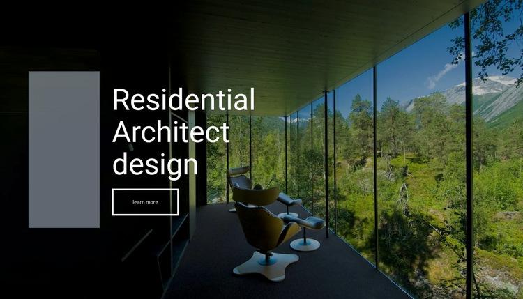 Residental architect design  Website Builder
