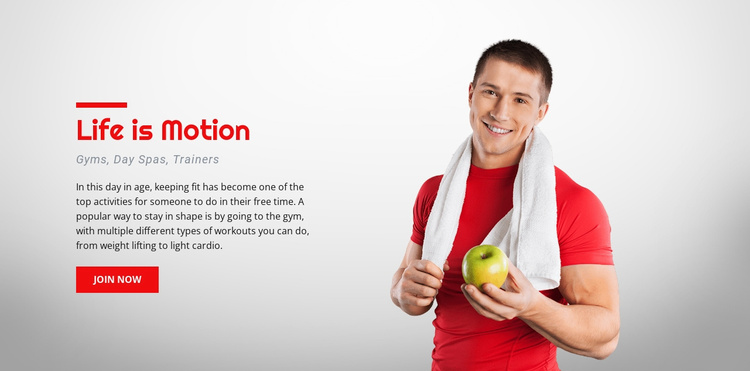 Customized exercise machines Website Template