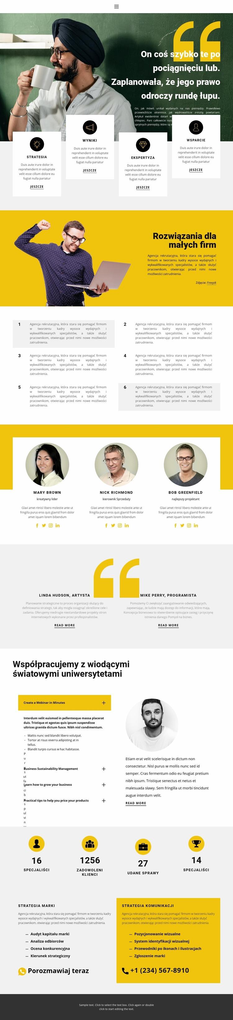 Prawidłowe budowanie biznesu Szablon Joomla