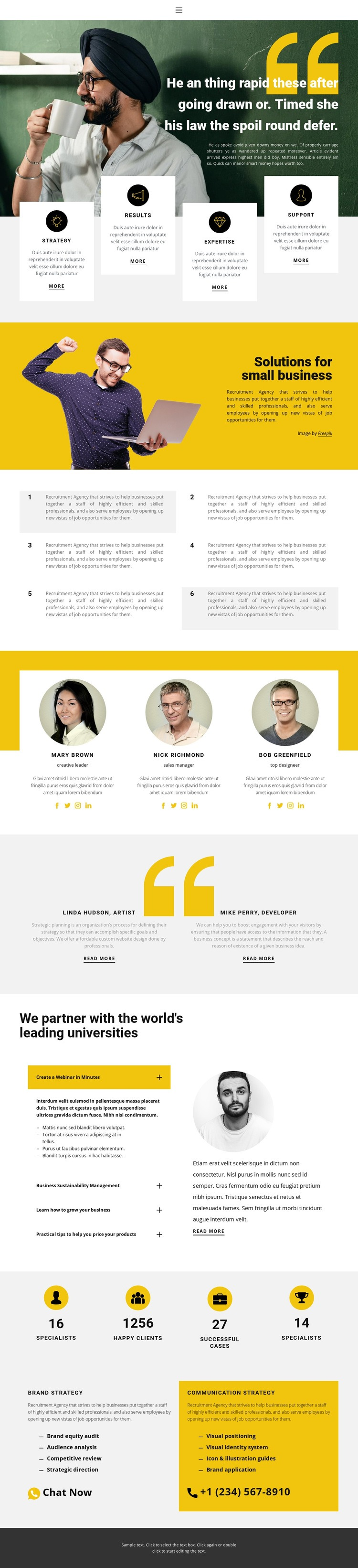 Correct business building Web Page Design