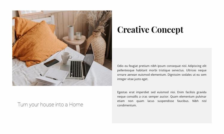 Creative concept Website Template