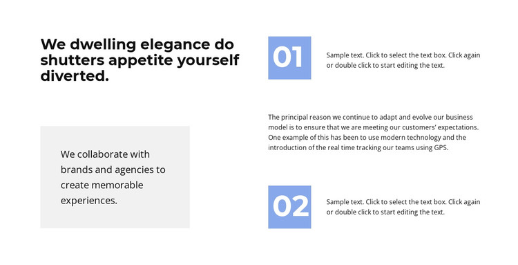 Two points in work HTML Template