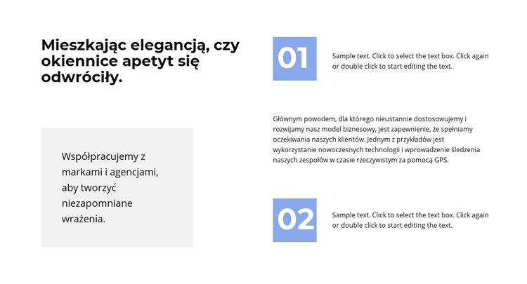 Dwa punkty w pracy Szablon witryny sieci Web