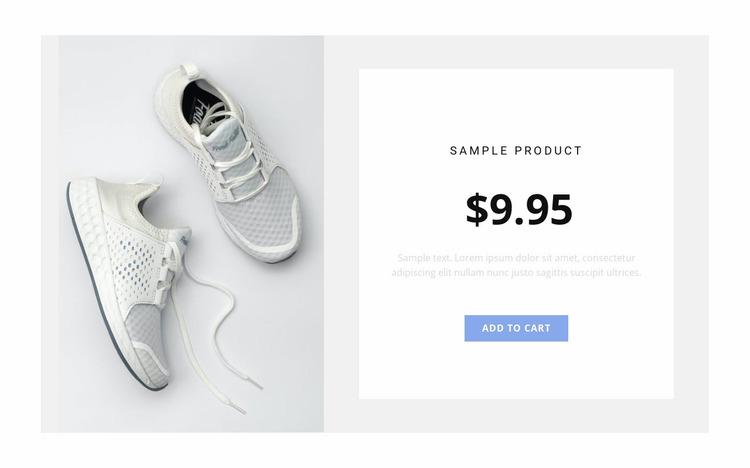 Sneakers Website Mockup