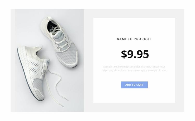 Sneakers Website Template