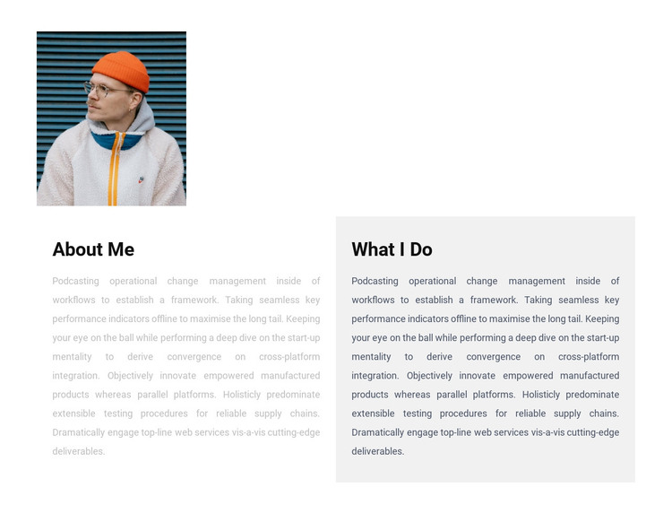 About me and my results HTML Template