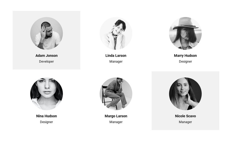 Six people from the team HTML Template