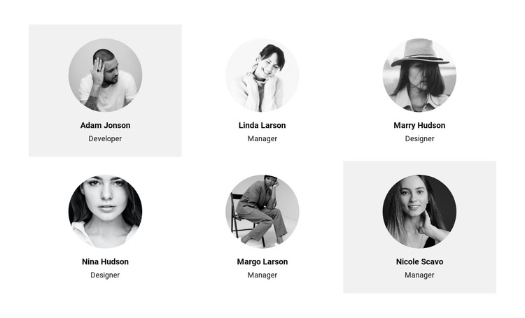 Six people from the team Joomla Page Builder