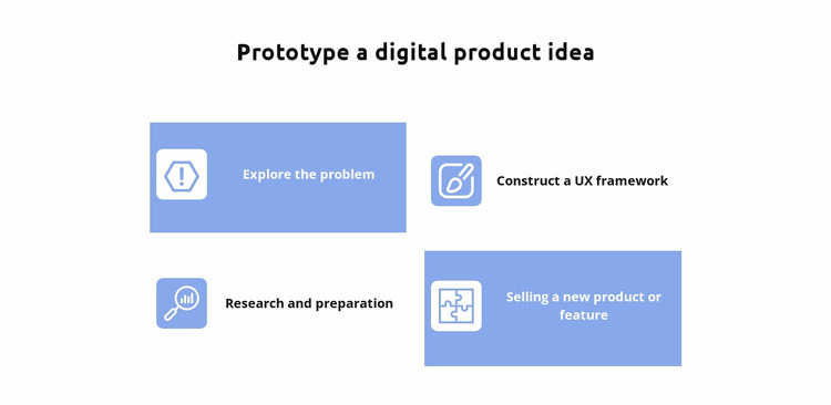 Four ideas Website Mockup