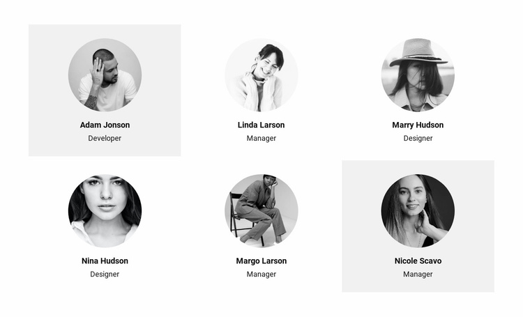 Six people from the team Website Template