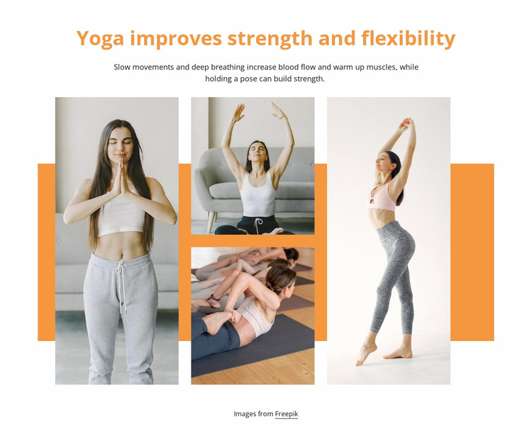 Strenght and flexibility Website Template