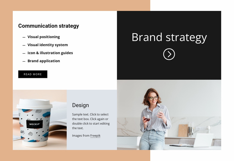 Communication strategy Website Template