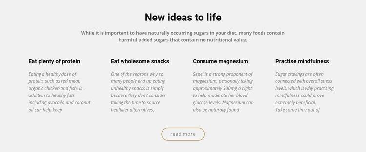 Creative new ideas to life Html Code