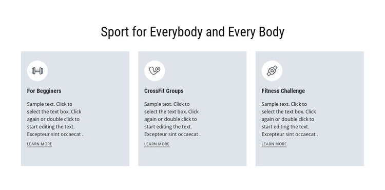 Sport for everybody HTML Template