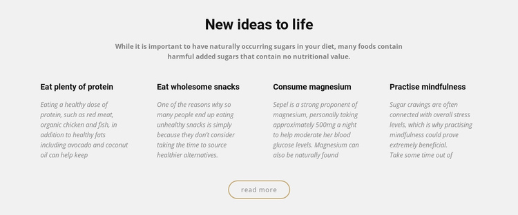 Creative new ideas to life One Page Template