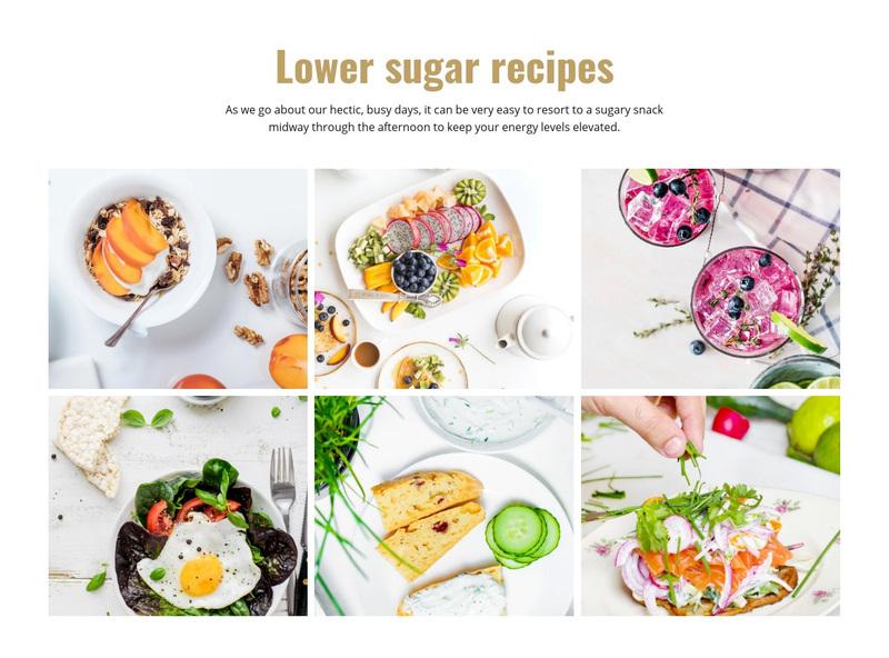 Favorite tasty food recipes Web Page Design