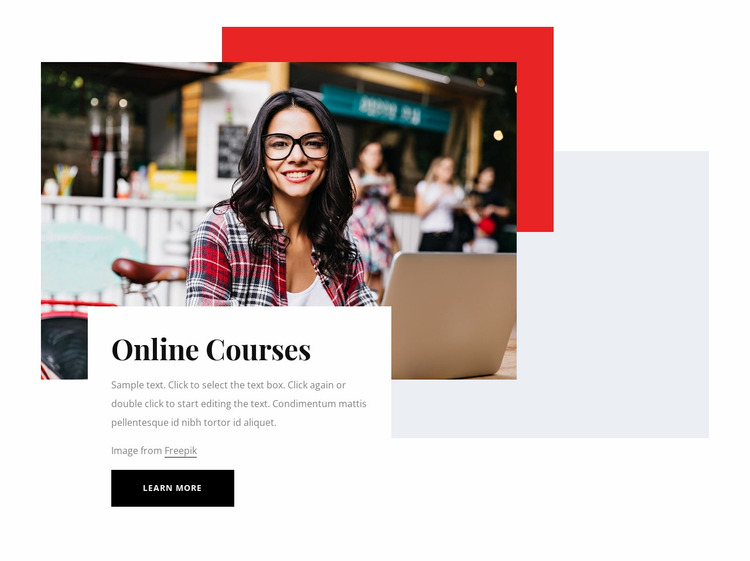 Online courses for you Website Mockup