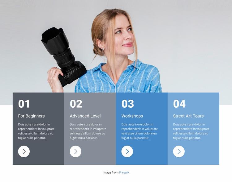 Modern photography class Website Builder