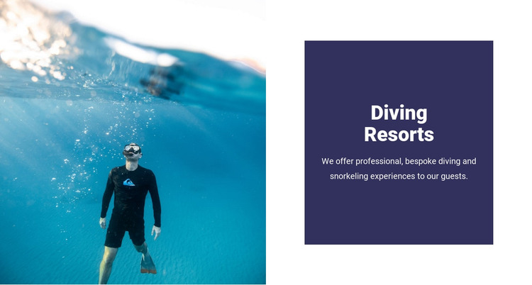 Diving with sharks HTML Template