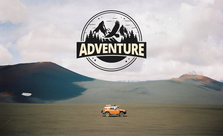 Adventure logo on image Woocommerce Theme