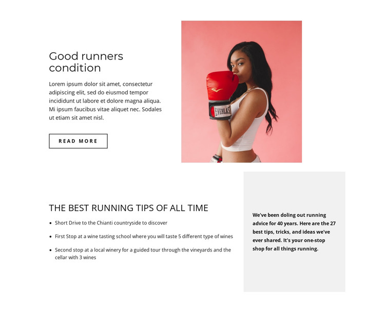 Sports for everyone HTML Template