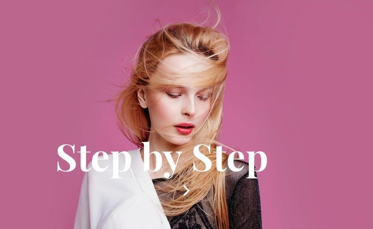 Preparation step by step Website Mockup