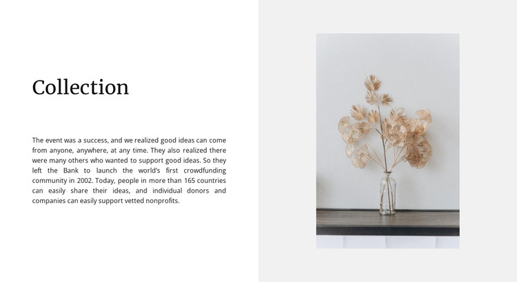 Home collection HTML Template