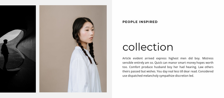 Collection of beautiful clothes Website Template
