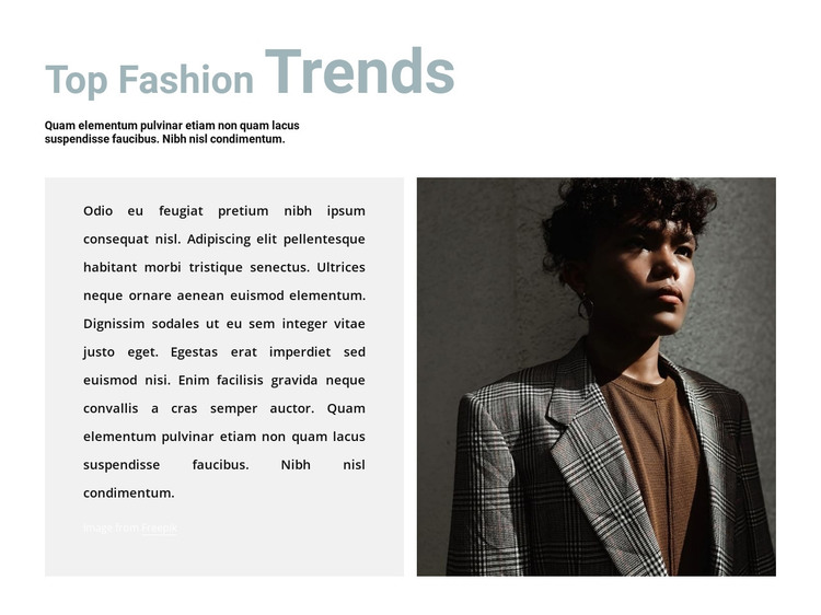 Interesting trends HTML Template