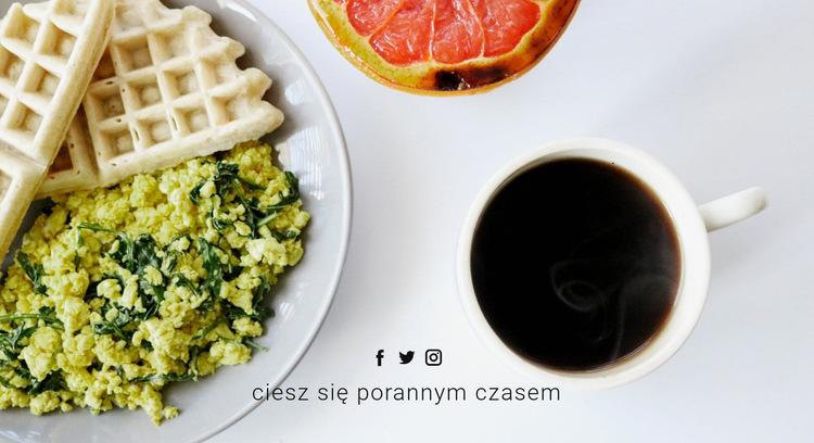 Smacznego śniadania Szablon witryny sieci Web