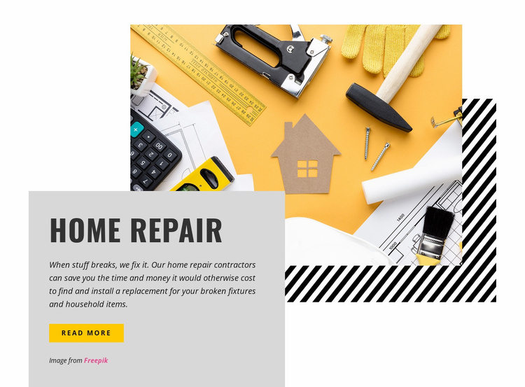 We offer critical repairs Website Template