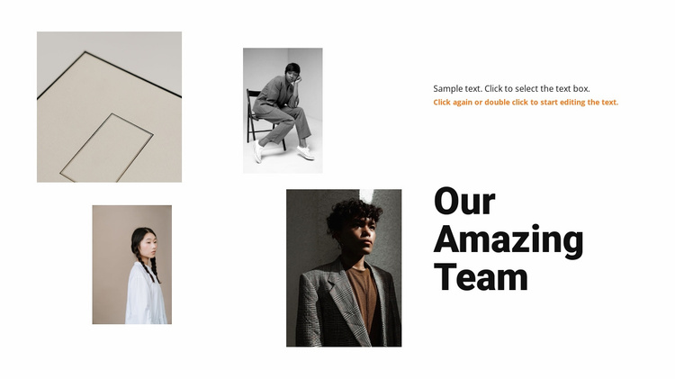 Four girls from the team Website Template