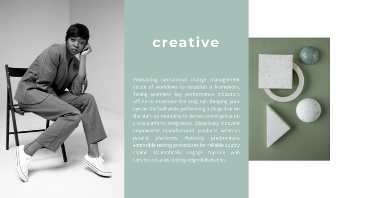 New forms in design Website Template