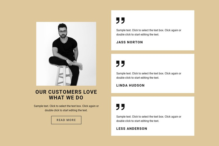 Our user love what we do CSS Template