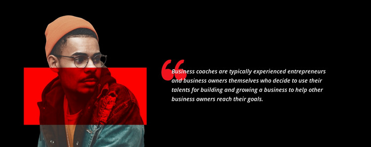 Quotes about business HTML Template