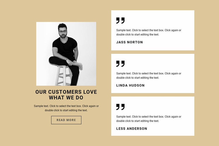 Our user love what we do Website Mockup