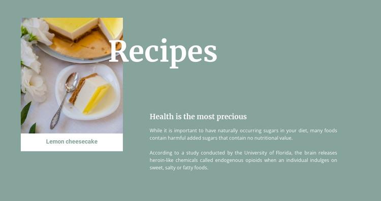 Lemon cheesecake HTML Template