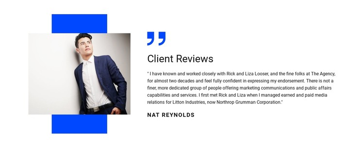 Client testimonials and reviews WordPress Template