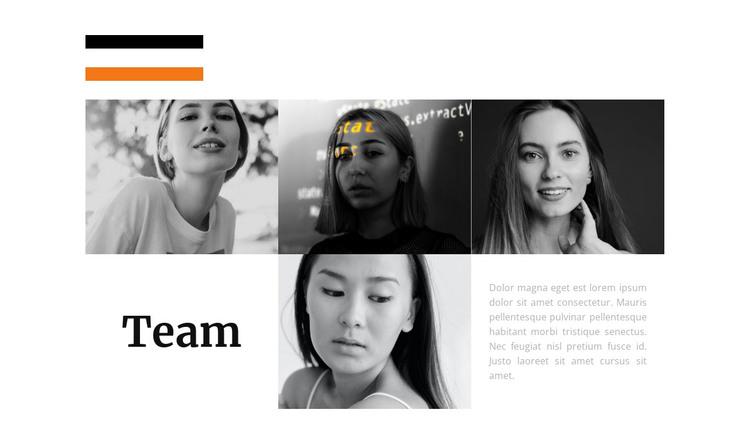 Stylist team HTML Template